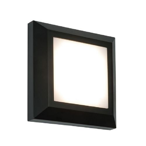 LED Black abs plastic & frosted Polycarbonate Wall Light BX61218-17 by Endon (Double Insulated)